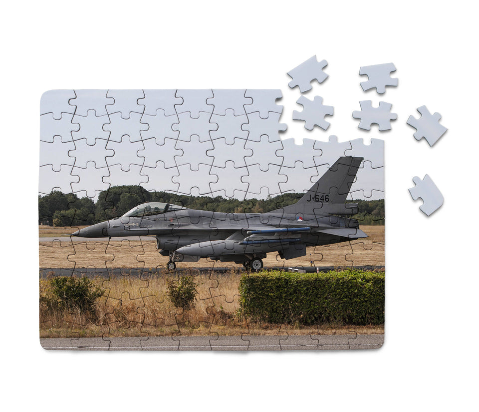 Fighting Falcon F16 From Side Printed Puzzles Aviation Shop