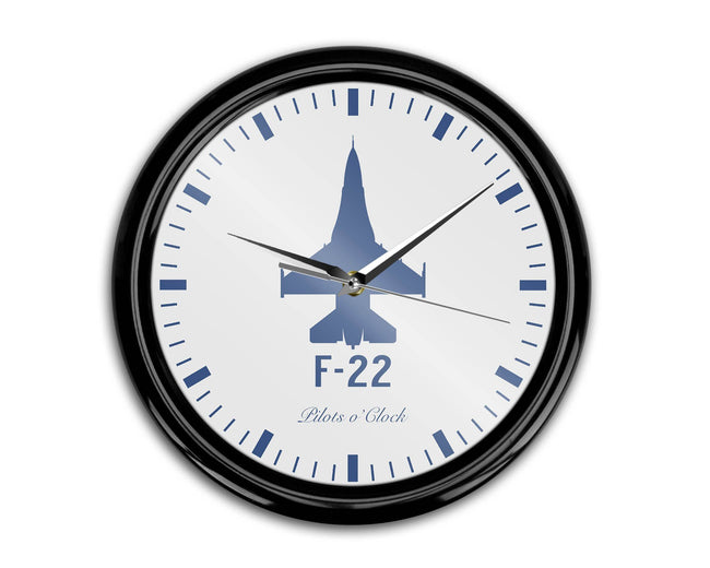 Fighting Falcon F22 Printed Wall Clocks Aviation Shop