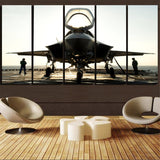 Fighting Falcon F35 Printed Canvas Prints (5 Pieces) Aviation Shop
