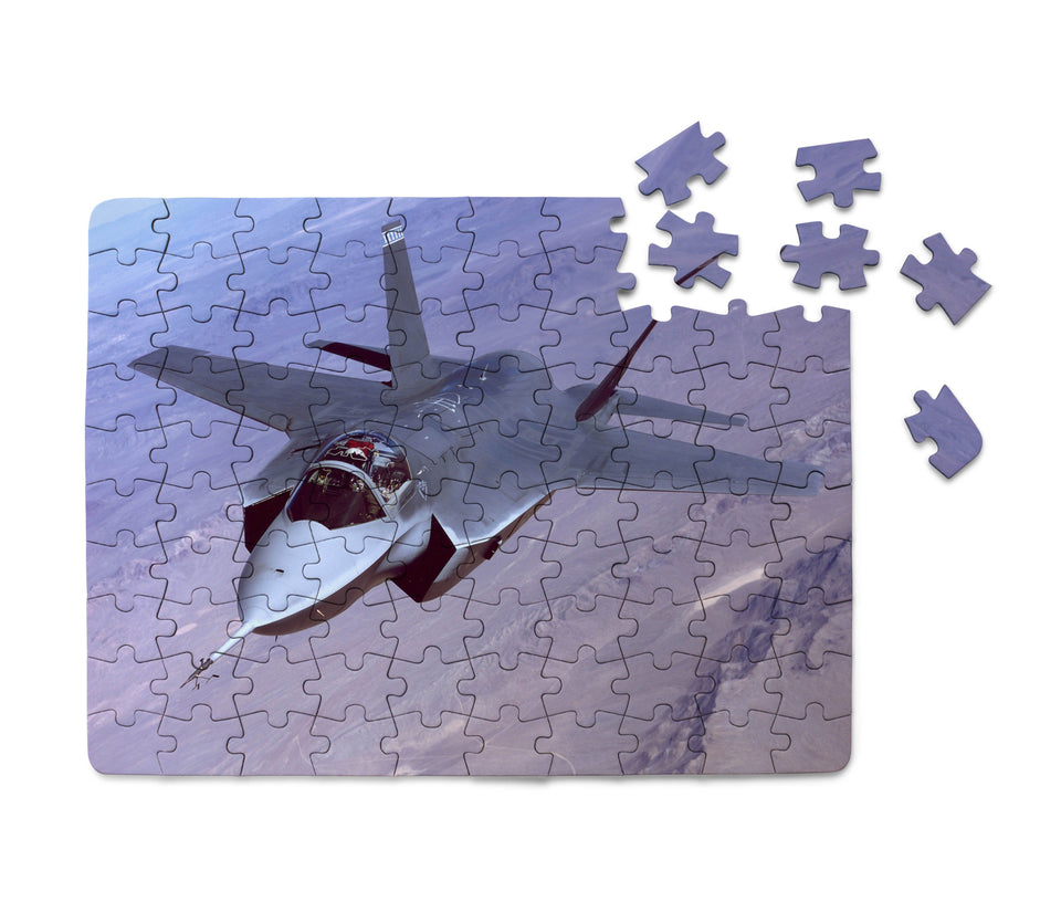 Fighting Falcon F35 Captured in the Air Printed Puzzles Aviation Shop