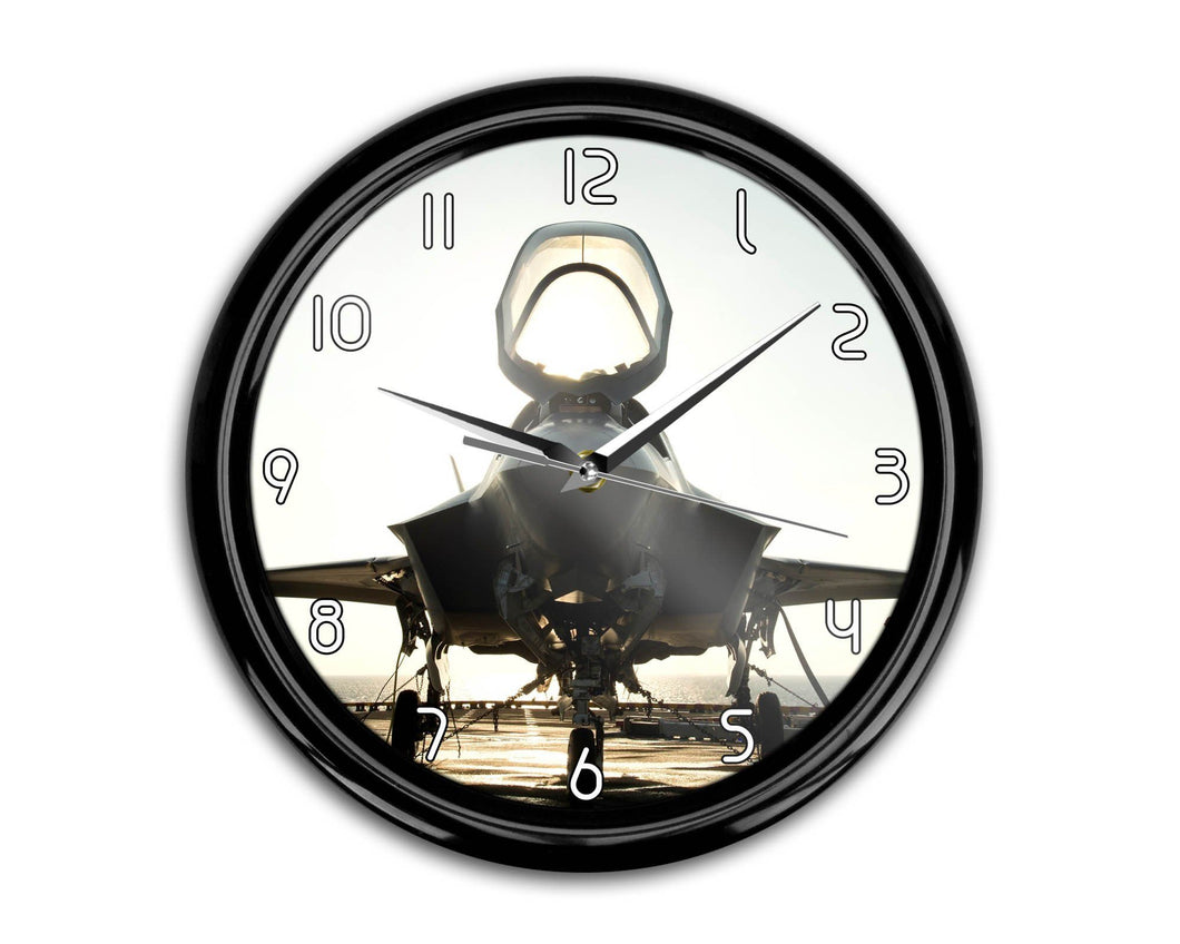 Fighting Falcon F35 Printed Wall Clocks Aviation Shop