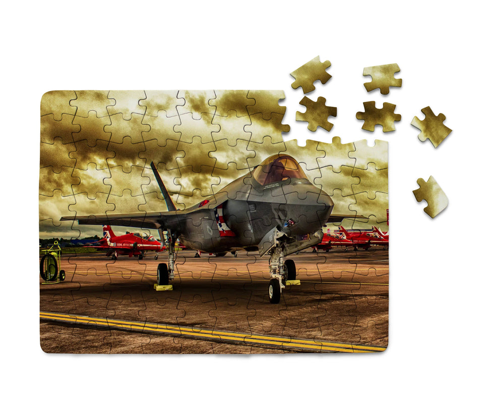 Fighting Falcon F35 at Airbase Printed Puzzles Aviation Shop