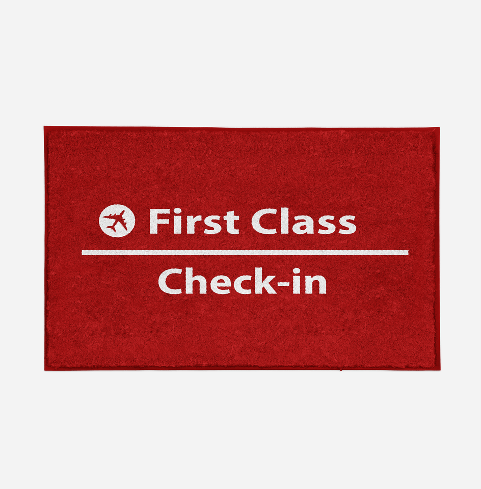 First Class - Check In Designed Door Mats Aviation Shop