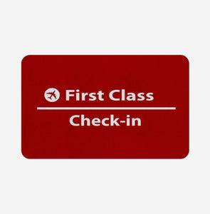 First Class - Check In Designed Bath Mats Pilot Eyes Store Floor Mat 50x80cm