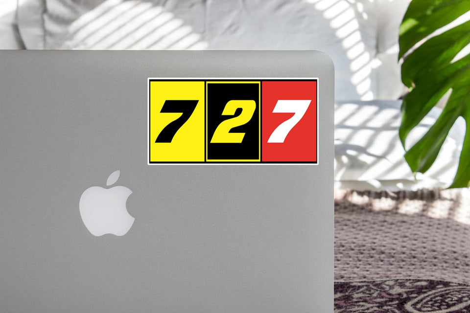 Flat Colourful 727 Designed Stickers