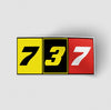 Flat Colourful 737 Designed Stickers