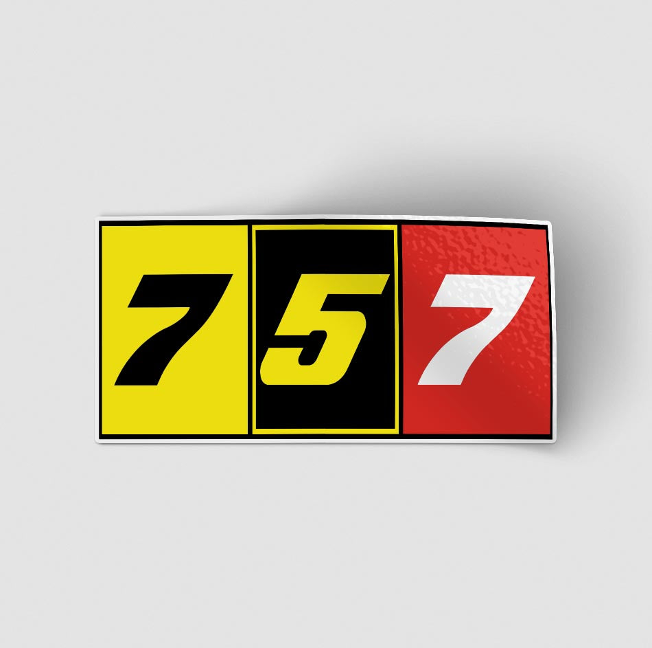 Flat Colourful 757 Designed Stickers