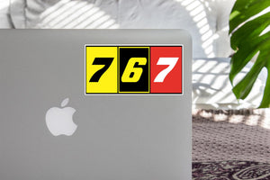 Flat Colourful 767 Designed Stickers