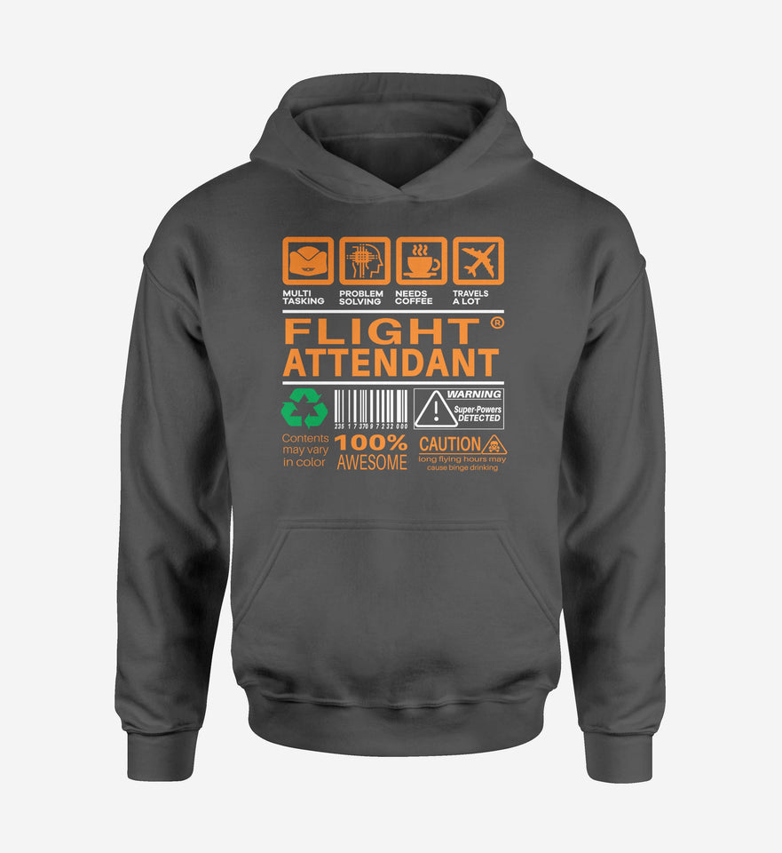 Flight Attendant Label Designed Hoodies