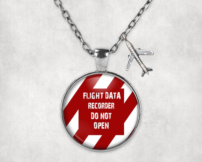 Flight Data Recorder - Do Not Open Designed Necklaces