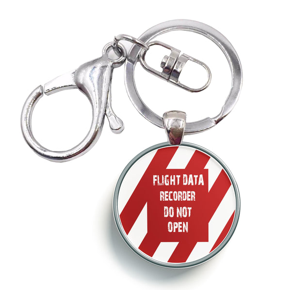 Flight Data Recorder - Do Not Open Designed Circle Key Chains