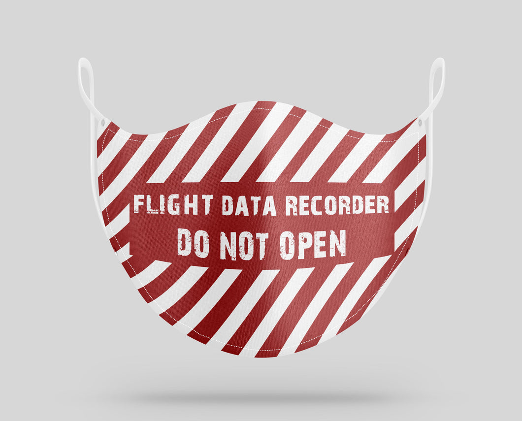 Flight Data Recorder - DO NOT OPEN Designed Face Masks