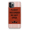 Flight Recorder Do Not Open Designed iPhone Cases