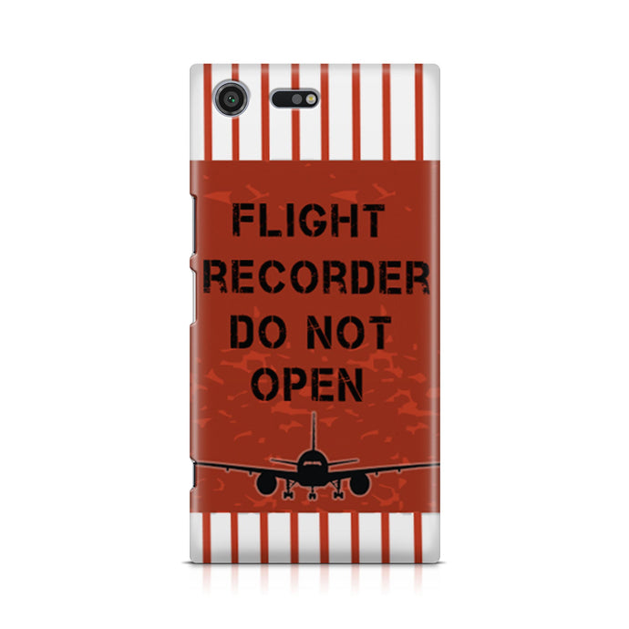 Flight Recorder Do Not Open Designed Sony Cases
