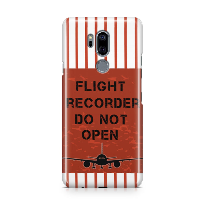 Flight Recorder Do Not Open Designed LG Cases