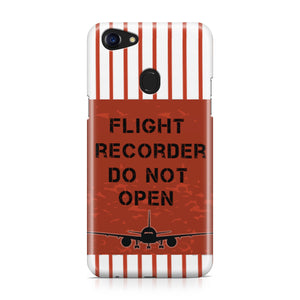 Flight Recorder Do Not Open Designed Oppo Phone Cases