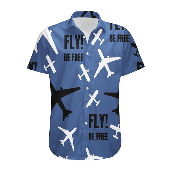 Fly Be Free Blue Designed 3D Shirts