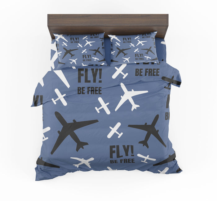 Fly Be Free Blue Designed Bedding Sets