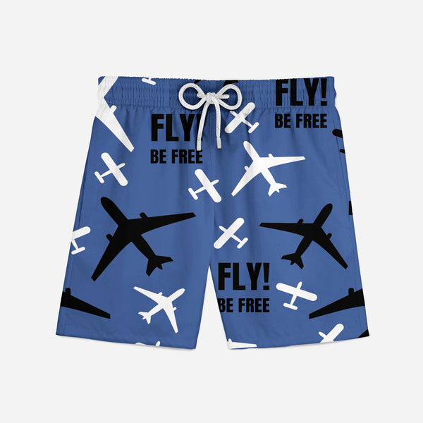 Fly Be Free (Blue) Swim Trunks & Shorts