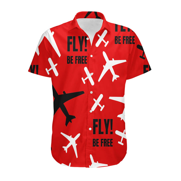 Fly Be Free Red Designed 3D Shirts