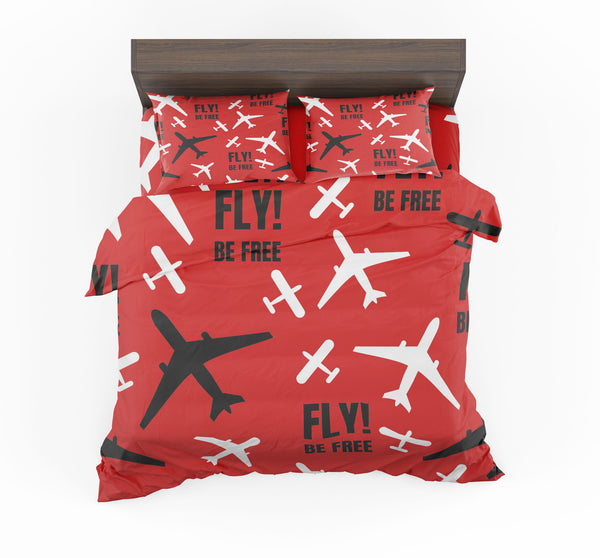 Fly Be Free Red Designed Bedding Sets