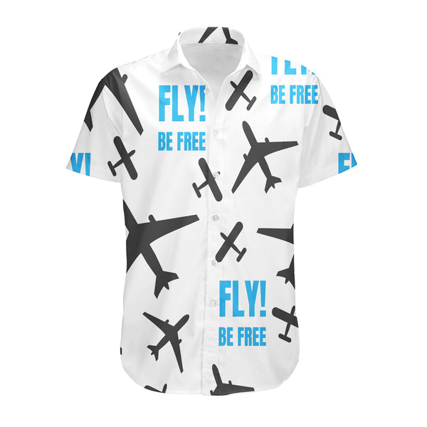 Fly Be Free White Designed 3D Shirts