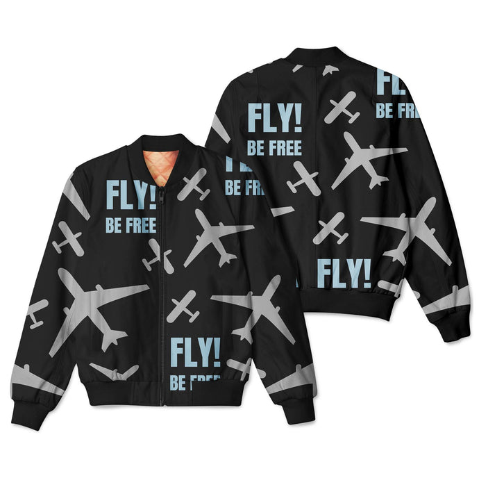 Fly Be Free Designed 3D Pilot Bomber Jackets