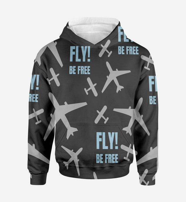 Fly Be Free Designed 3D Hoodies