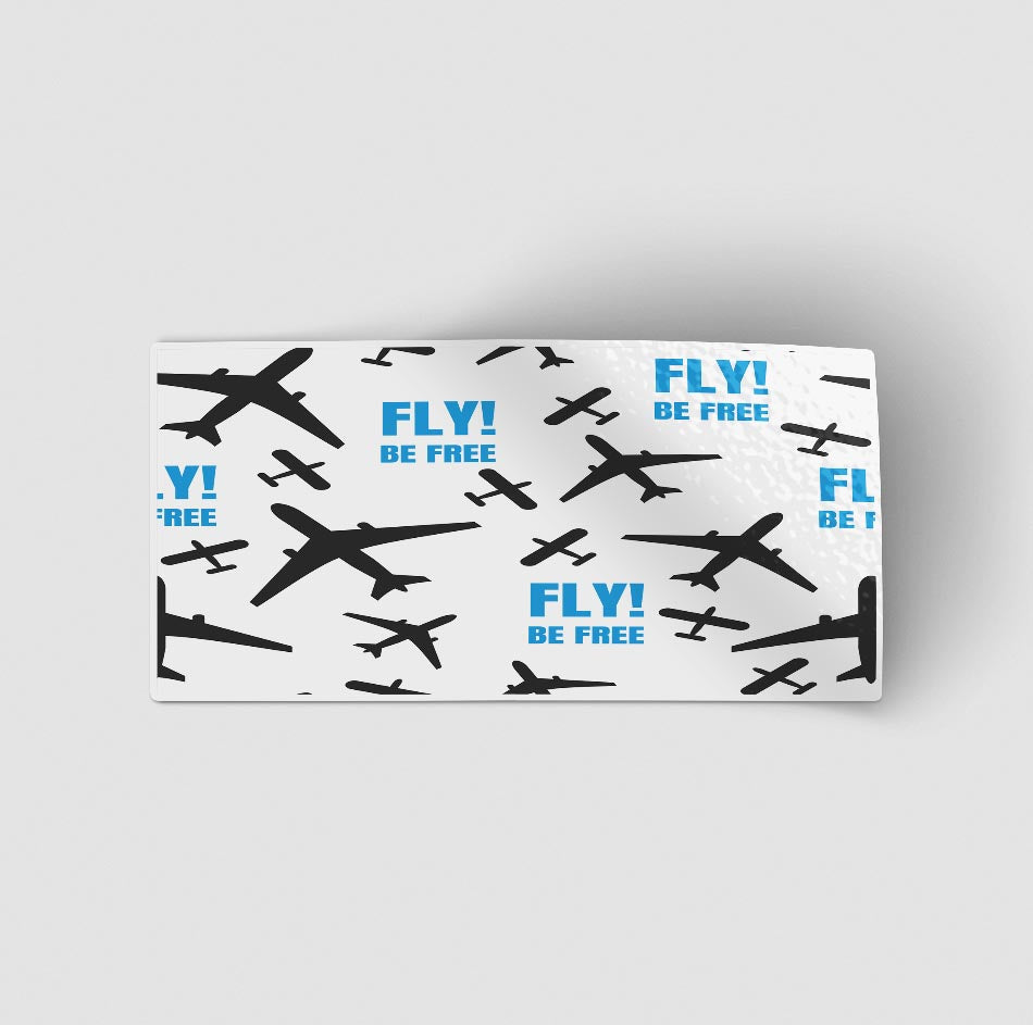 Fly Be Free (White) Designed Stickers