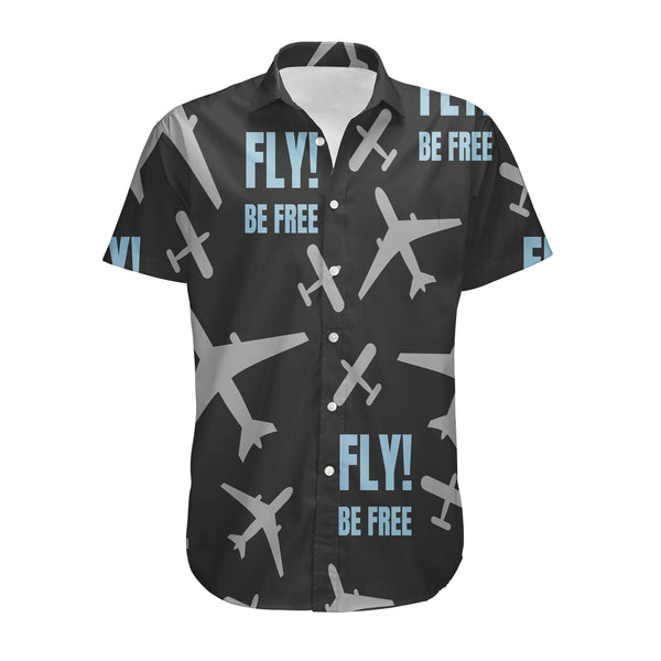 Fly Be Free Black Designed 3D Shirts