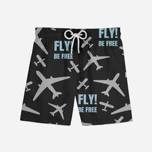 Fly Be Free! Designed Swim Trunks