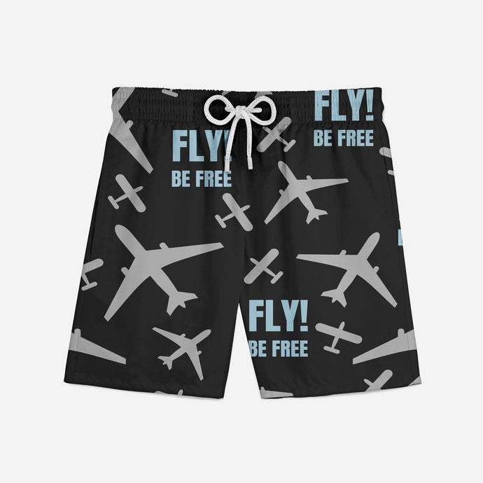 Fly Be Free! Designed Swim Trunks & Shorts