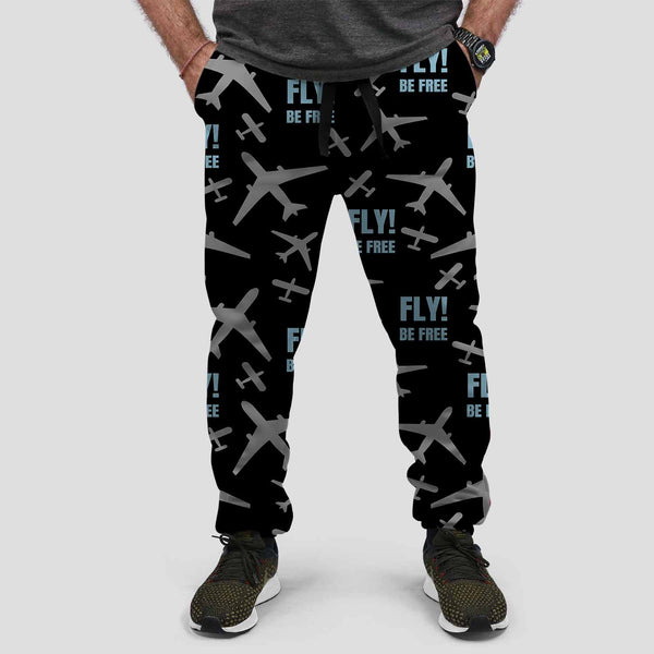 Fly Be Free Designed Sweat Pants & Trousers