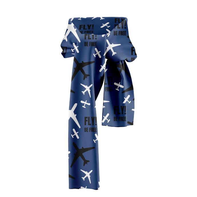 Fly be Free (Blue) Designed Scarfs