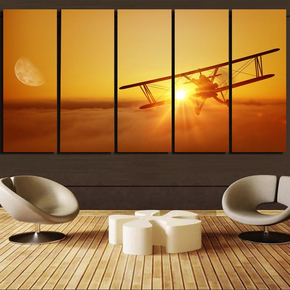 Flying is an Adventure Printed Canvas Prints (5 Pieces) Aviation Shop