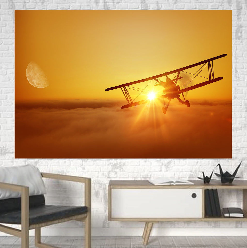 Flying is an Adventure Printed Canvas Posters (1 Piece) Aviation Shop