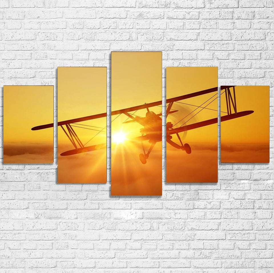 Flying is an Adventure Printed Multiple Canvas Poster Aviation Shop