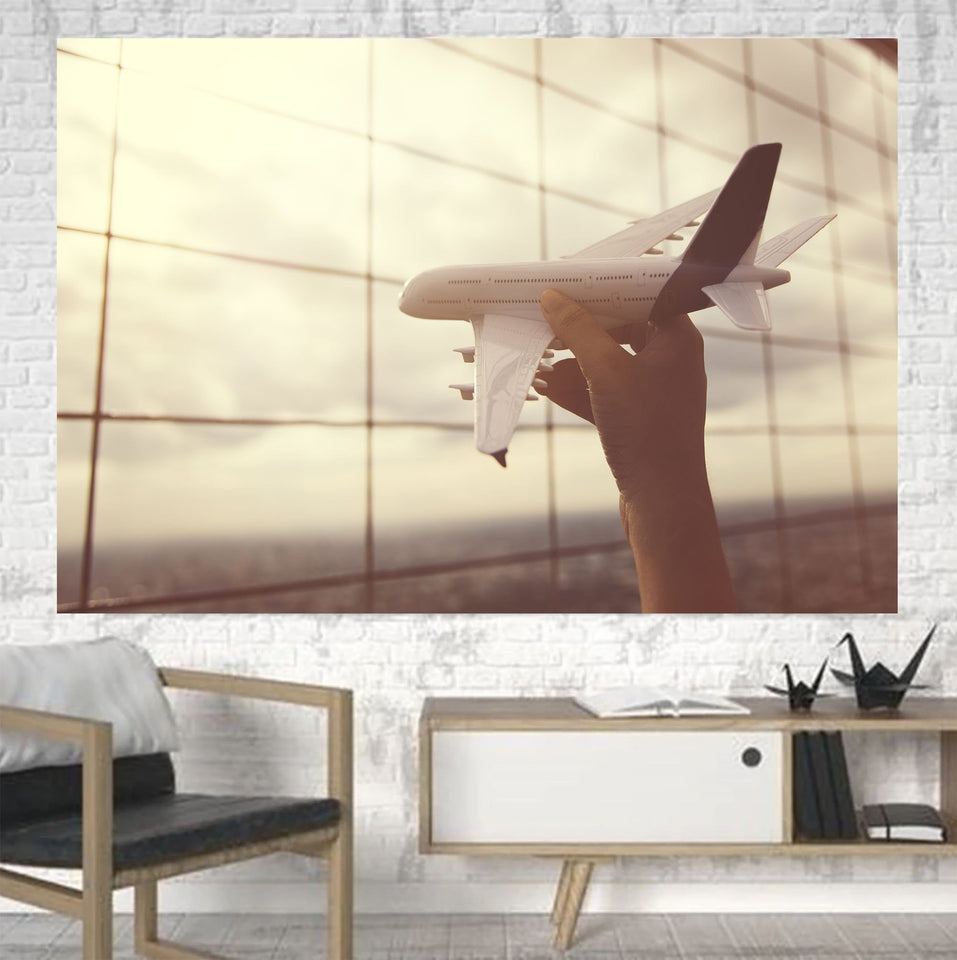Follow Your Dreams Printed Canvas Posters (1 Piece) Aviation Shop