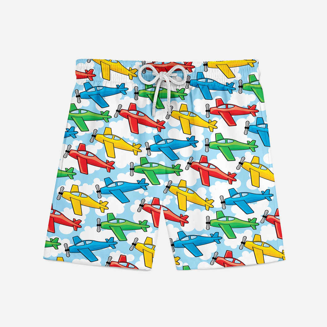 Funny Airplanes Designed Swim Trunks