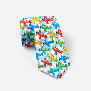 Funny Airplanes Designed Ties