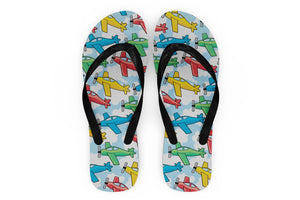 Funny Airplanes Designed Slippers (Flip Flops)