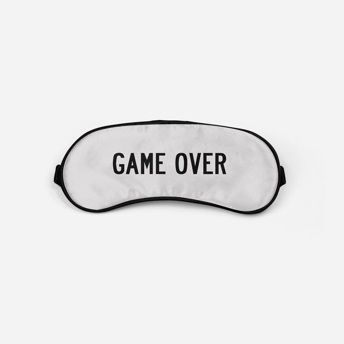 Game Over Sleep Masks Aviation Shop Light Gray Sleep Mask