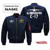 GlobeMaster C-17 Silhouette & Designed Pilot Jackets (Customizable)