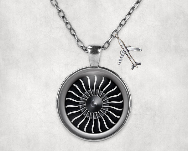 Graphical Jet Engine Designed Necklaces
