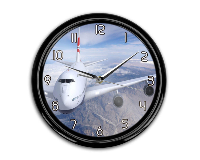 Graphical Boeing 747 Printed Wall Clocks Aviation Shop