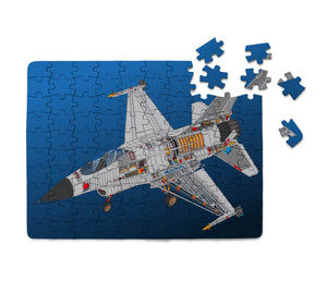 Graphical Fighting Falcon F16 Printed Puzzles Aviation Shop