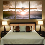 Graphical Propeller Printed Canvas Posters (3 Pieces)