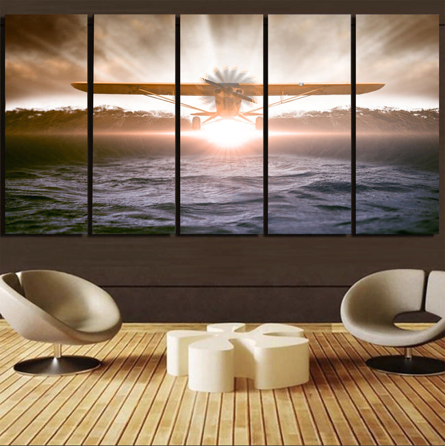 Graphical Propeller Printed Canvas Prints (5 Pieces) Aviation Shop
