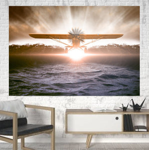 Graphical Propeller Printed Canvas Posters (1 Piece) Aviation Shop