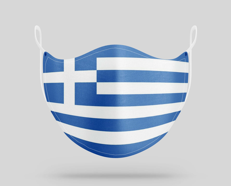 Greece Flag Designed Face Masks